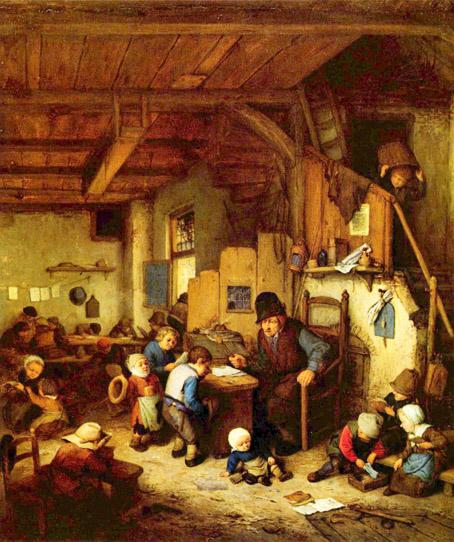 The Schoolmaster Painting