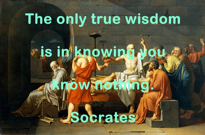The only true wisdom is in knowing you know nothing. Socrates