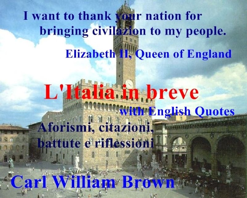 L'Italia in breve. Italian e-book with English quotes about Italy and the Italians.