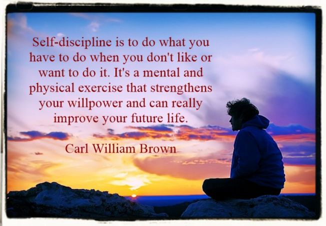 Self-discipline quote by C.W. Brown