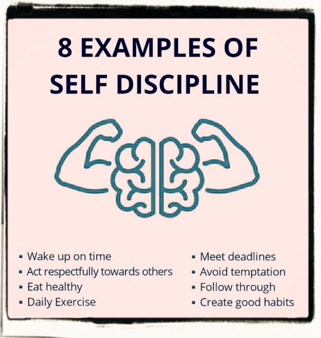 Self-discipline good examples