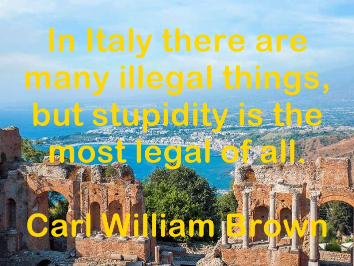 Quotes and aphorisms about Italy and Italian people