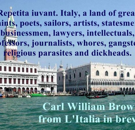 Aphorisms on Italy