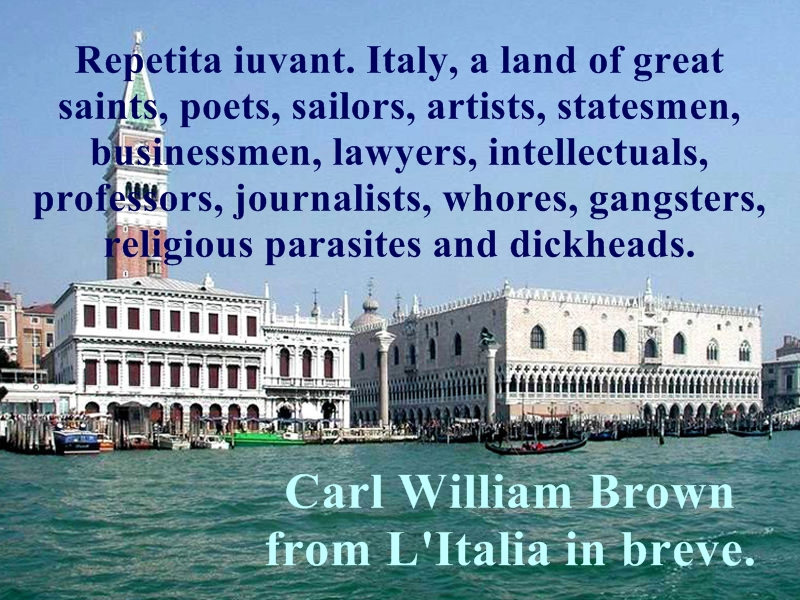 Aphorisms, quotes, quotations about Italy and Italians