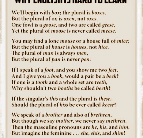 Questions about the English Language