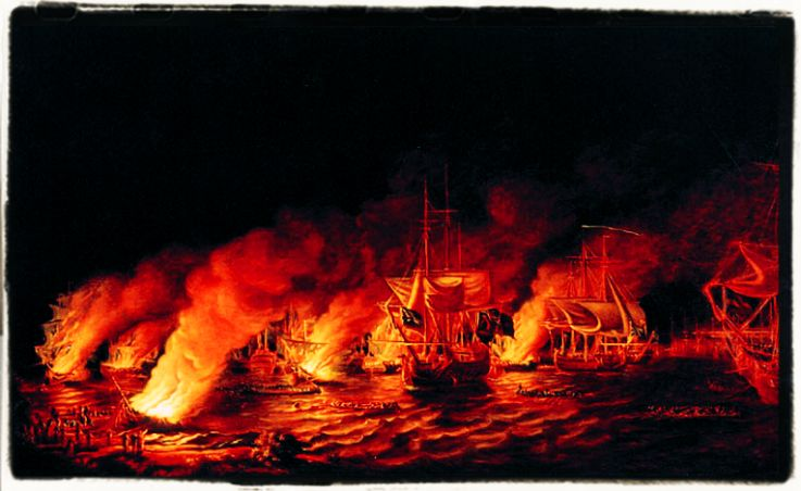The defeat of the French Fireships before Quebec