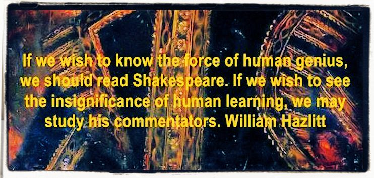 Genial quotes about Shakespeare reputation