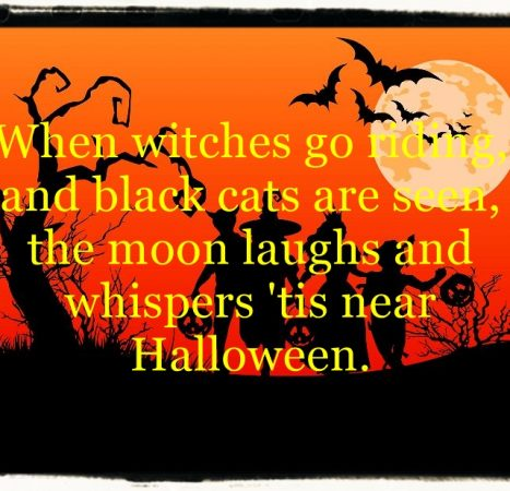 Halloween thoughts and poems