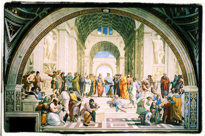 The old school of Athens by Raffaello