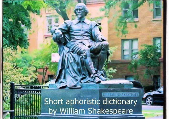 Shakespeare's aphoristic short dictionary