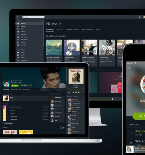 Spotify goes public with a bang after flag snafu to mark first day of trading