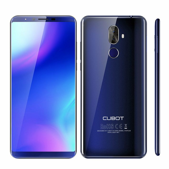 Cubot X18 Plus Android 8.0 4GB 64GB 5.99 MT6750T Octa-Core Smartphone 16MP+2MP Rear Cameras 4000mAh 4G
