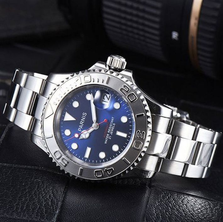 Parnis Yacht Master Blue Dial