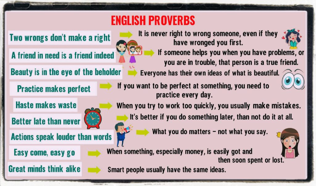 English teaching with proverbs