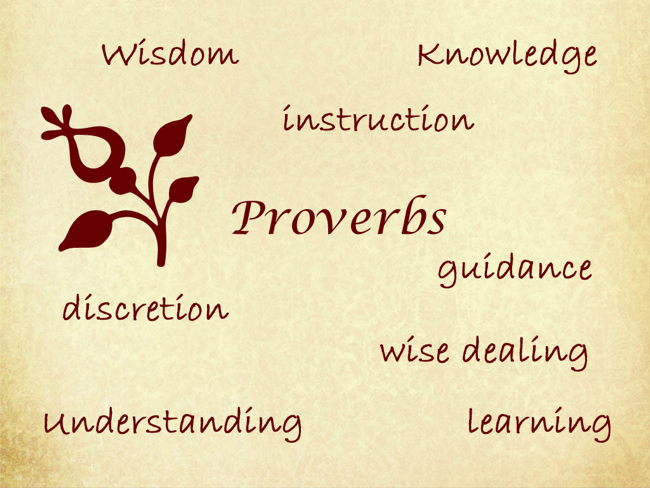 Proverbs, irony and wisdom