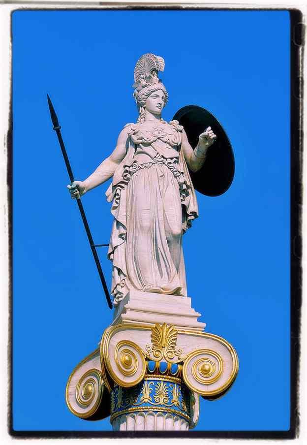 Statue of Athena Shake-spear allusion