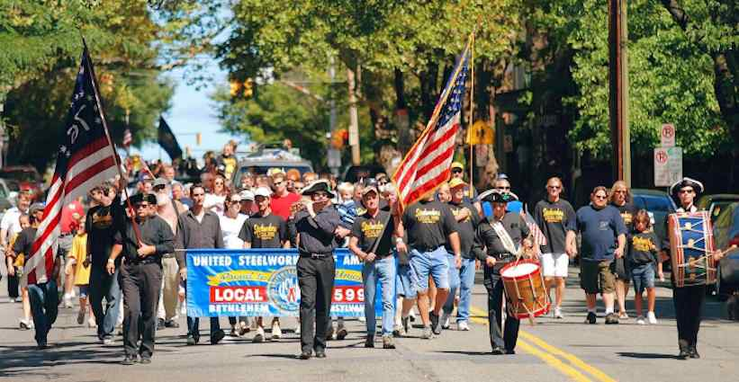 Labor Day parades and celebrations