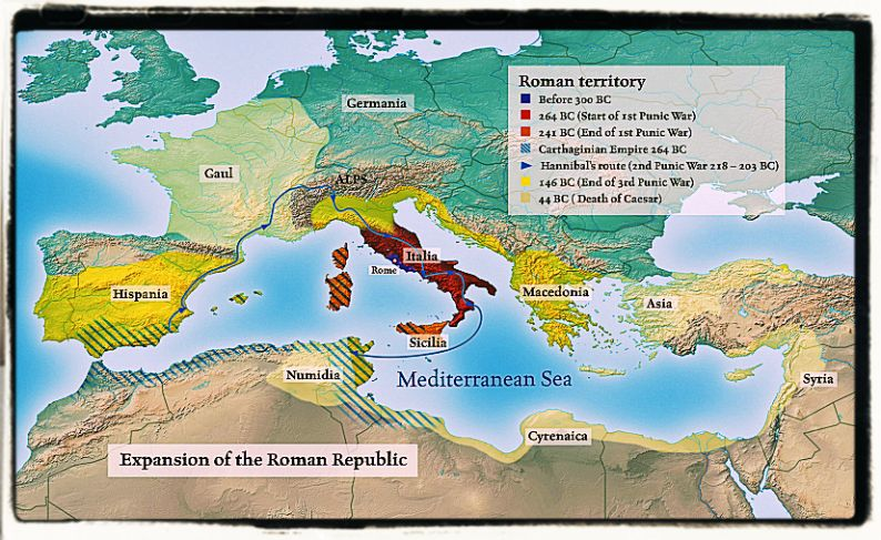 Latin and Roman republic expansion