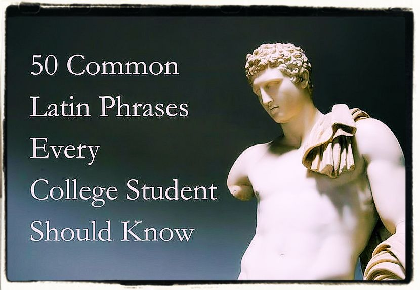 Common latin phrases used in English