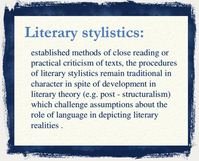 Literary theory and criticism