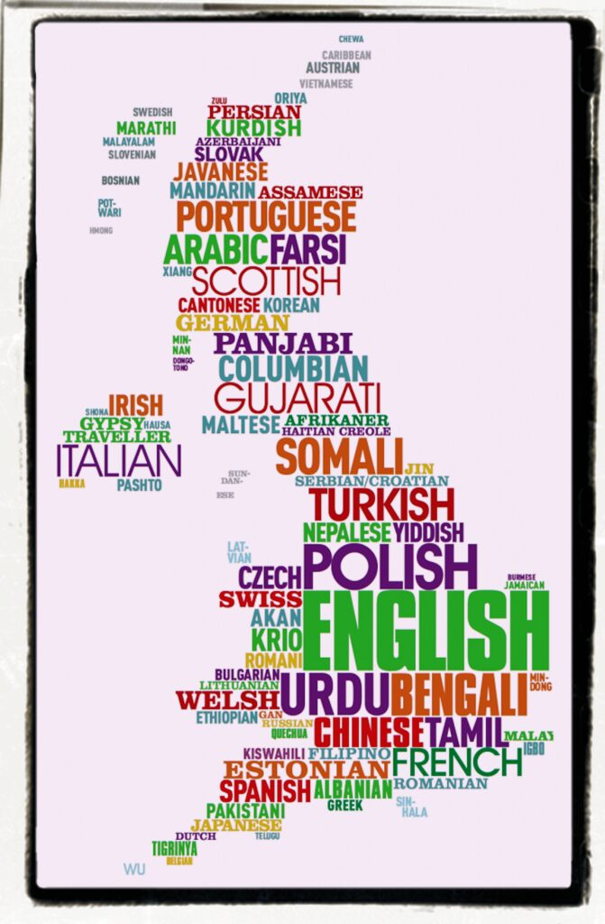 300 languages spoken in multicultural Britain