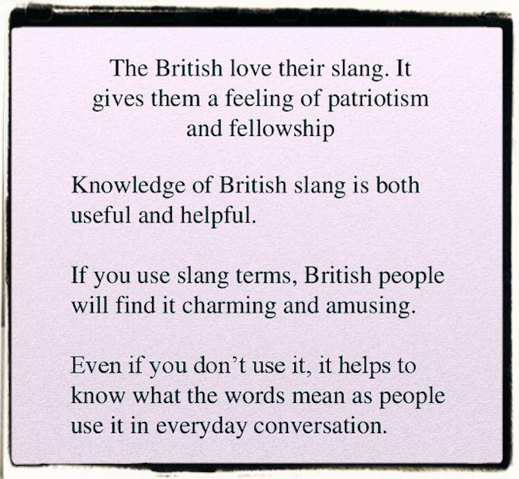 British slang language