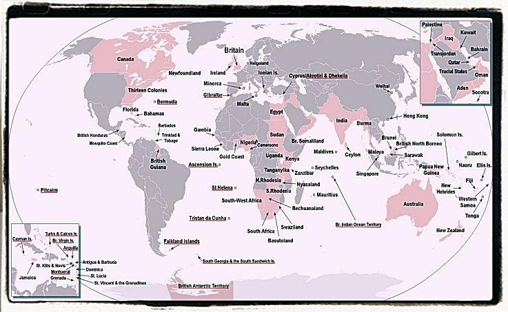 World Map of the British Empire