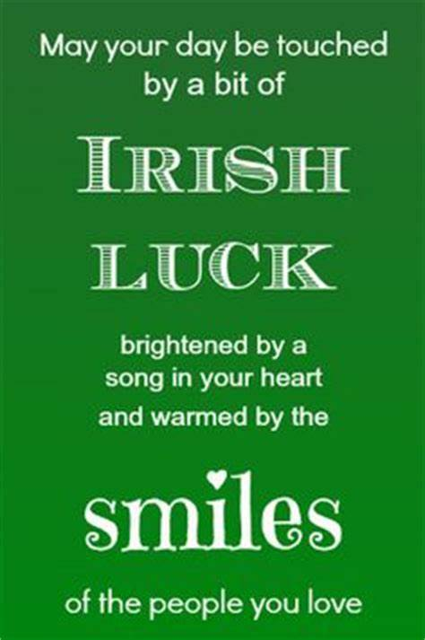 The luck of the Irish wishes