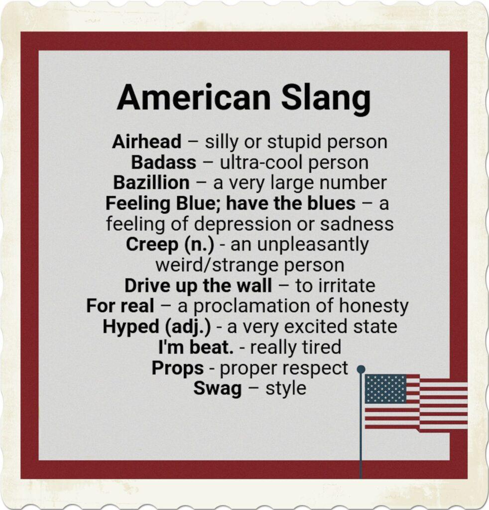 Words of the American slang