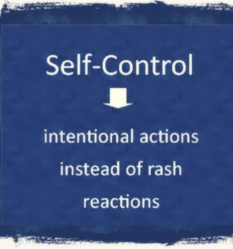 Importance of self-control