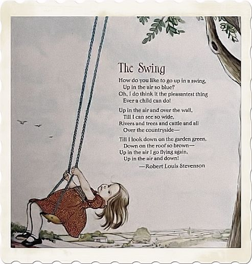 The swing a poem by Robert Louis Stevenson