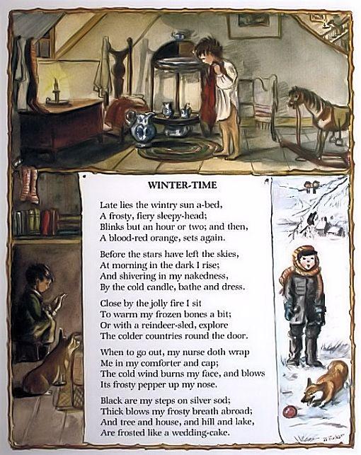 Winter time a poem by Robert Stevenson