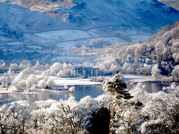 The lake district winter scenery
