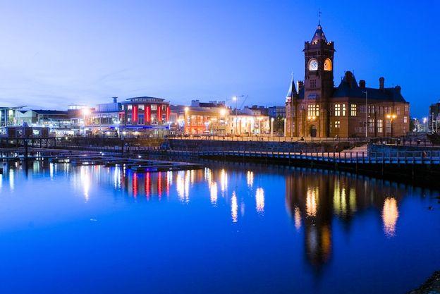Cardiff by night