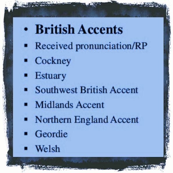 British accents variations