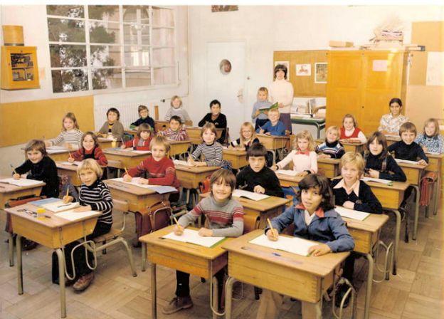 Children studying grammar