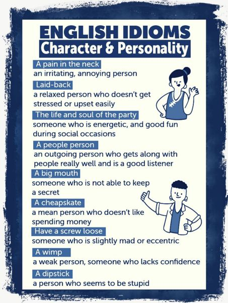 Character and personality idioms