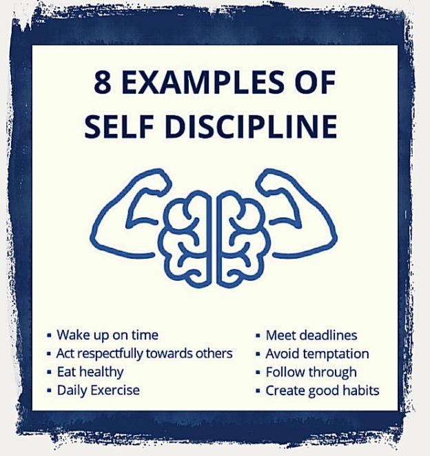 Examples of self discipline