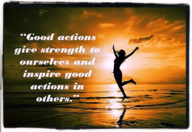 Always do good actions