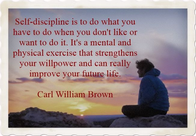 What is self-discipline by Carl William Brown