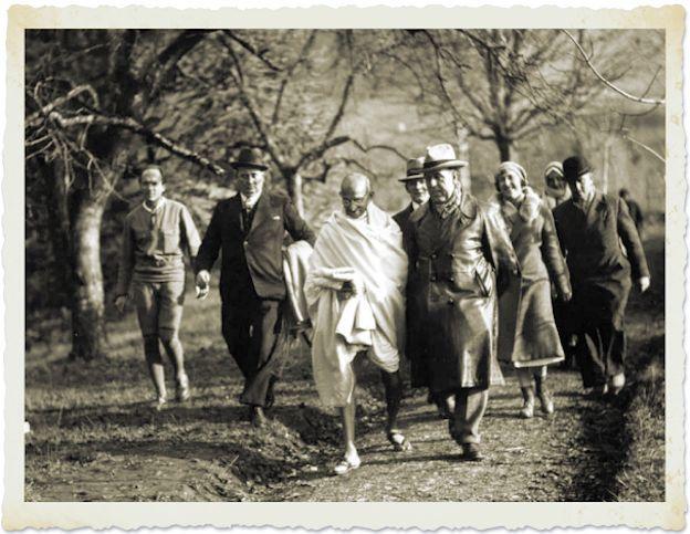 Gandhi travel in Europe