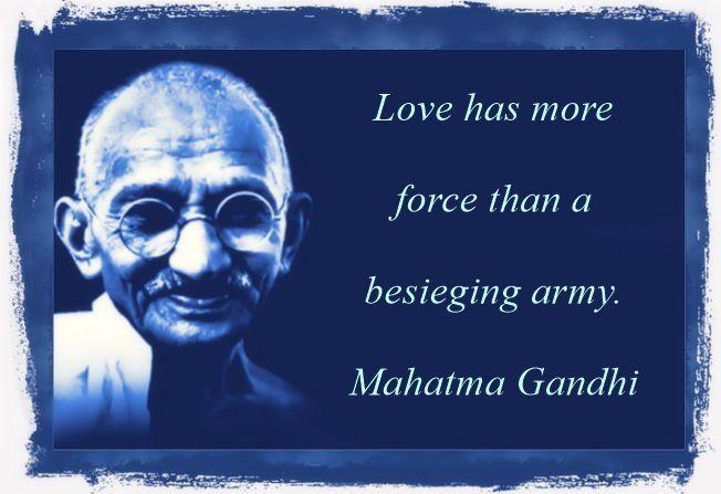 Gandhi quote on love